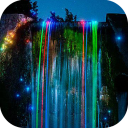 Neon waterfall Live Wallpaper 2.0 for Android