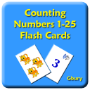 Counting Numbers 1-25 Flash Cards with Speech 1.05 for Android