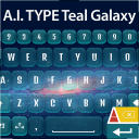 A.I. Type Keyboard Teal Galaxy 1.1 for Android