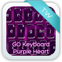 GO Keyboard Purple Heart 1.1 for Android
