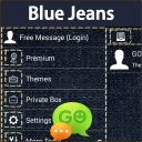 GO SMS Pro Blue Jeans 1.1 for Android