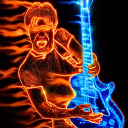 # # Burning Guitarist Live Wallpaper 26 for Android