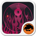 Pink Flame GO Locker 1.3 for Android