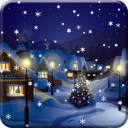 Snow Night City live wallpaper for Android
