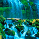 Blue Waterfall Beauty LWP 2 for Android